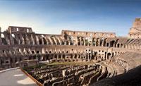 Колизей, его подземелья, верхние ряды и Древний Рим.