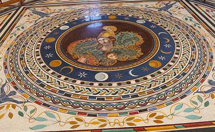 Экскурсии по Ватикану  - Солнце, Луна и звёзды в мозаиках с  IWU